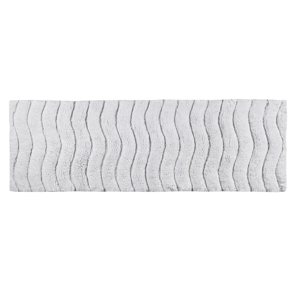Indulgence White 20 in. x 60 in. Bath Rug