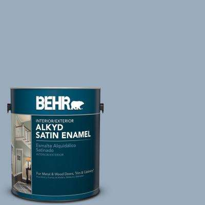 570f 4 Blue Willow Satin Enamel Alkyd Interior Exterior Paint