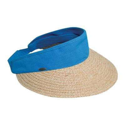 Raffia Visor Dyed Cotton Crown