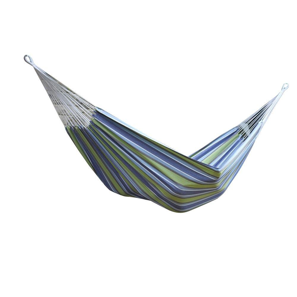 brazilian cotton double hammock in oasis vivere 12 ft  brazilian cotton double hammock in oasis braz224      rh   homedepot