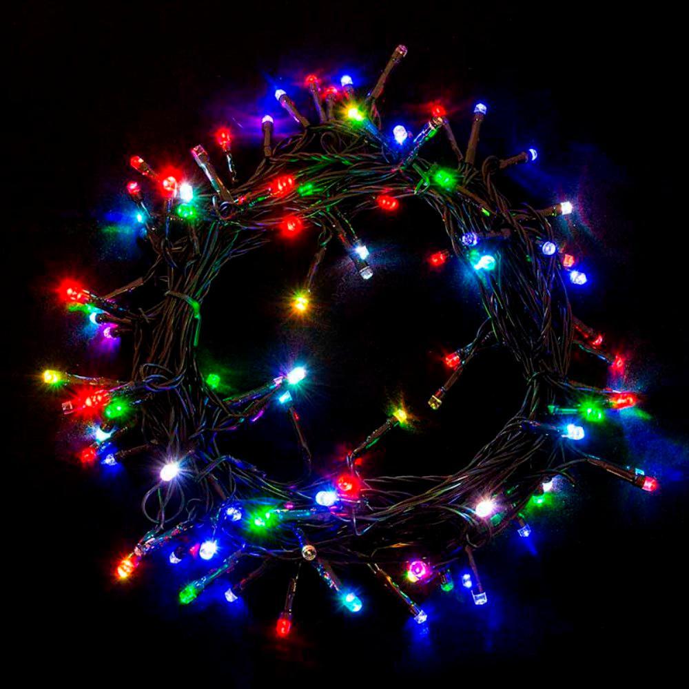 Aleko 100 Light Led Multi Color Electric Powered String