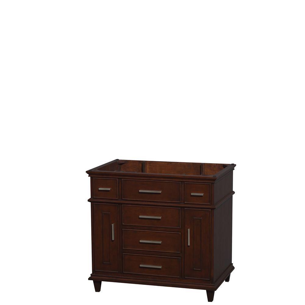 Berkeley 36 in. Vanity Cabinet Only in Dark Chestnut