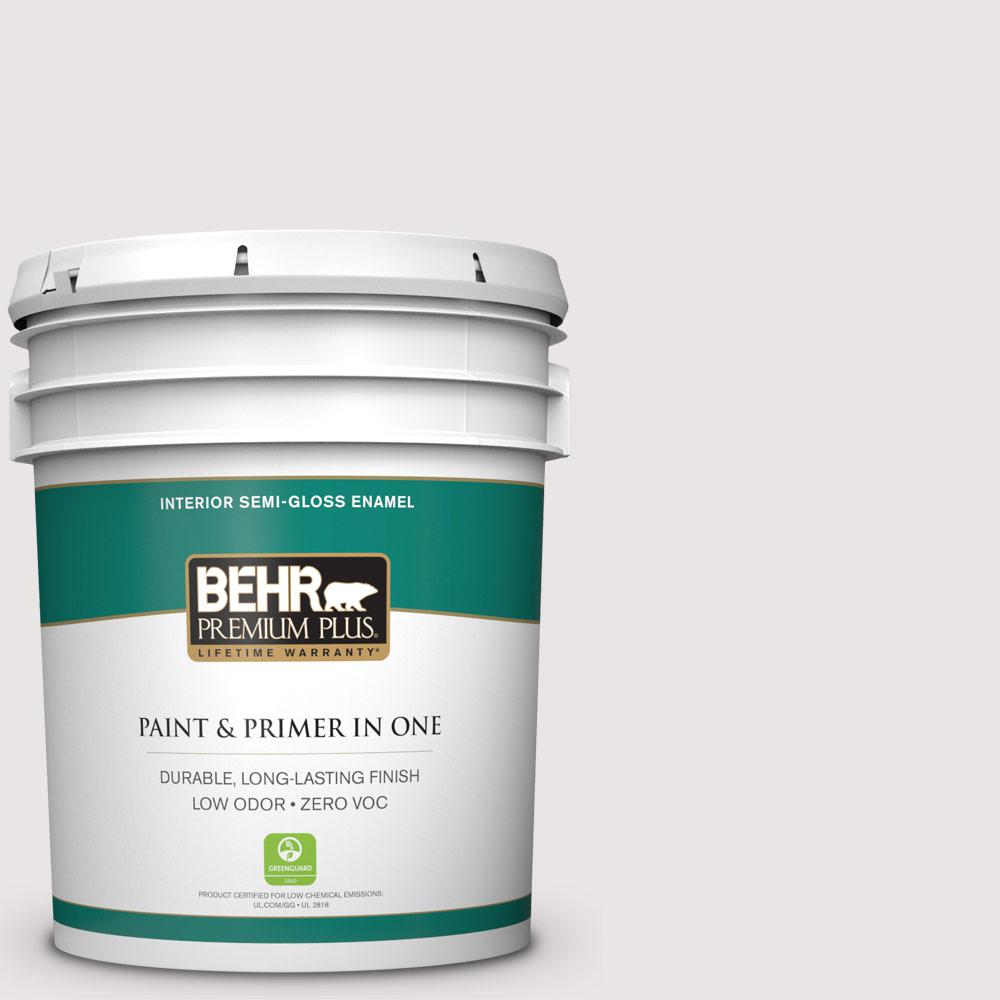 BEHR Premium Plus 5-gal. #PPL-53 Soft Violet Zero VOC Semi-Gloss Enamel Interior Paint