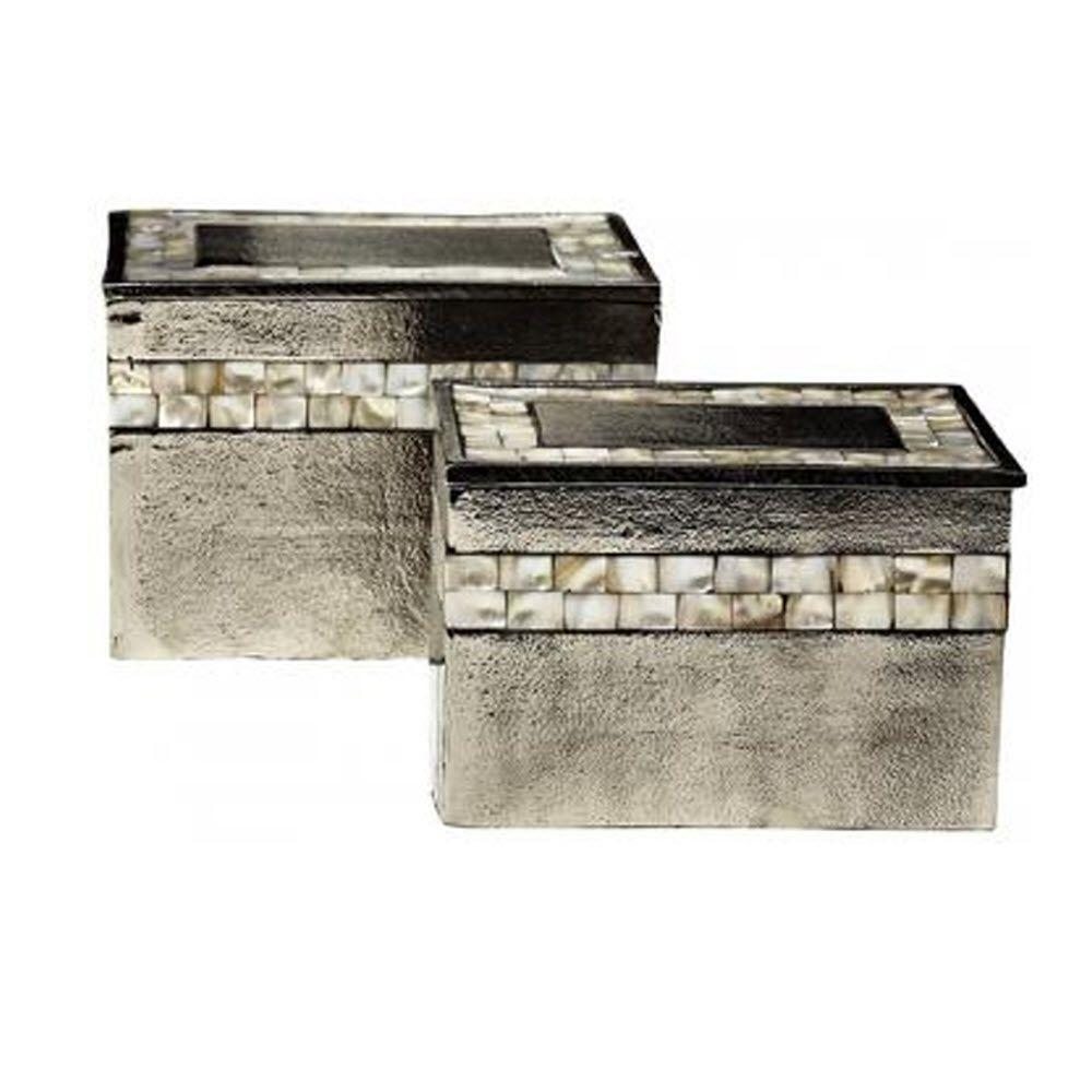Home Decorators Collection Hallowell Mother of Pearl Boxes (Set of 2)