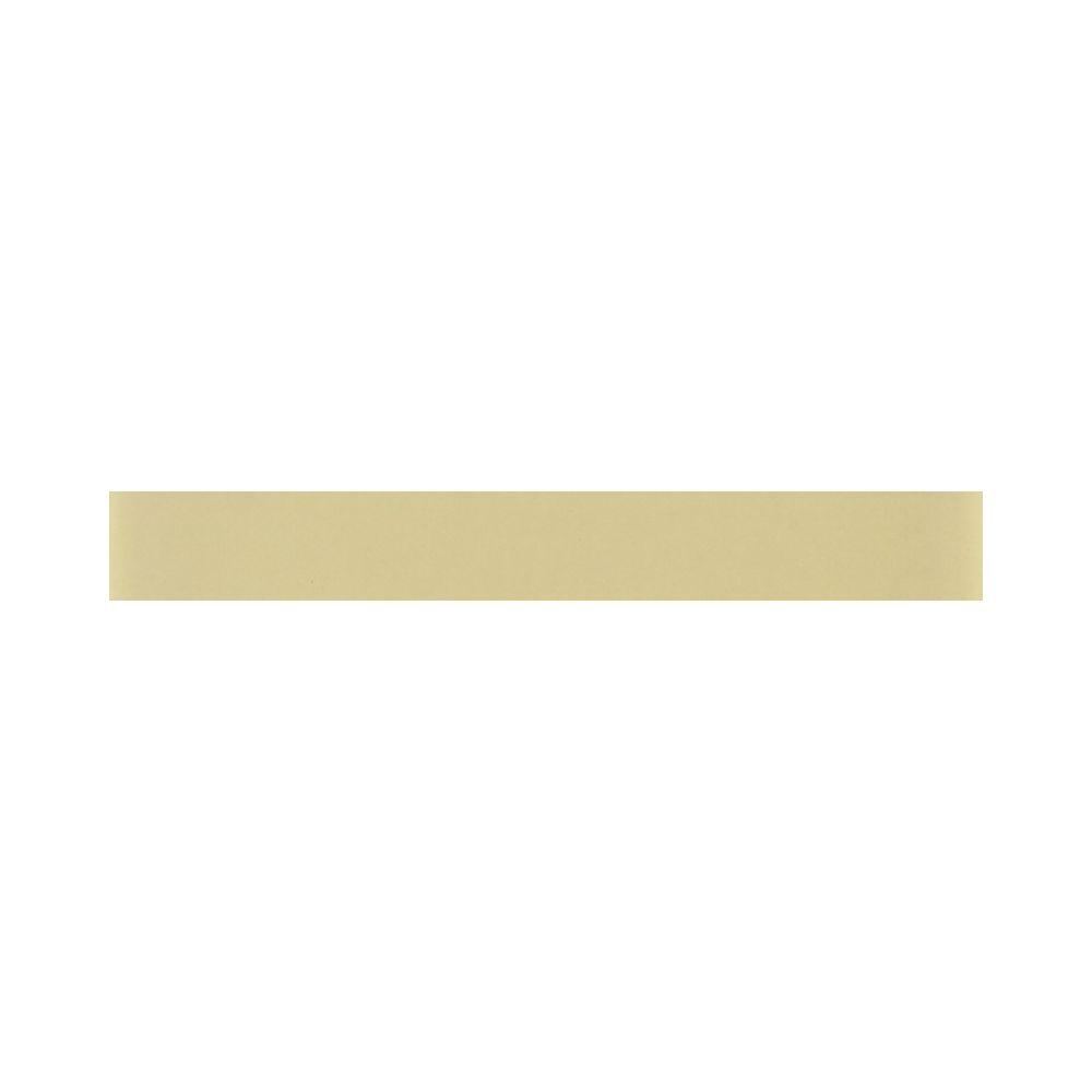Daltile Glass Reflections 1 in. x 6 in. Cream Soda Glass Liner Wall Tile-DISCONTINUED