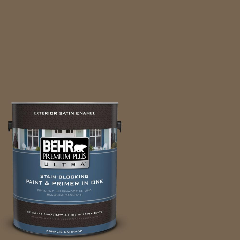 BEHR Premium Plus Ultra 1-gal. #BNC-35 Ground Pepper Satin Enamel Exterior Paint