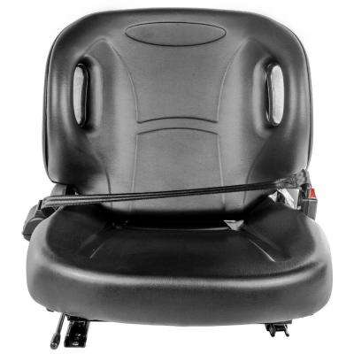 Industrial Forklift Leather Seat with Seat Belt and Safety Switch in Black