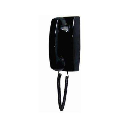Wall No Dial Corded Telephone - Black