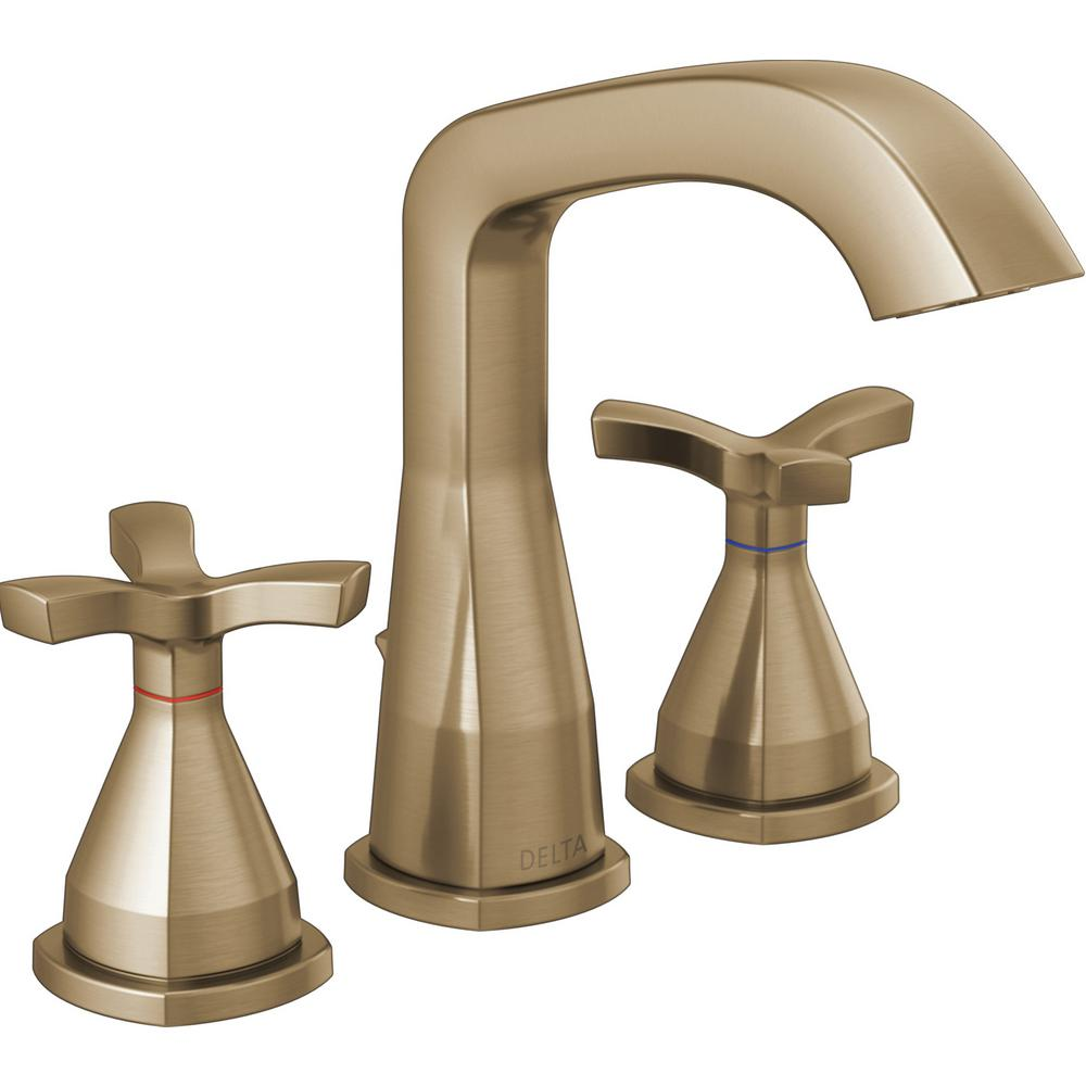 Delta Bathroom Faucets.Delta Stryke 8 In Widespread 2 Handle Bathroom Faucet In Champagne Bronze