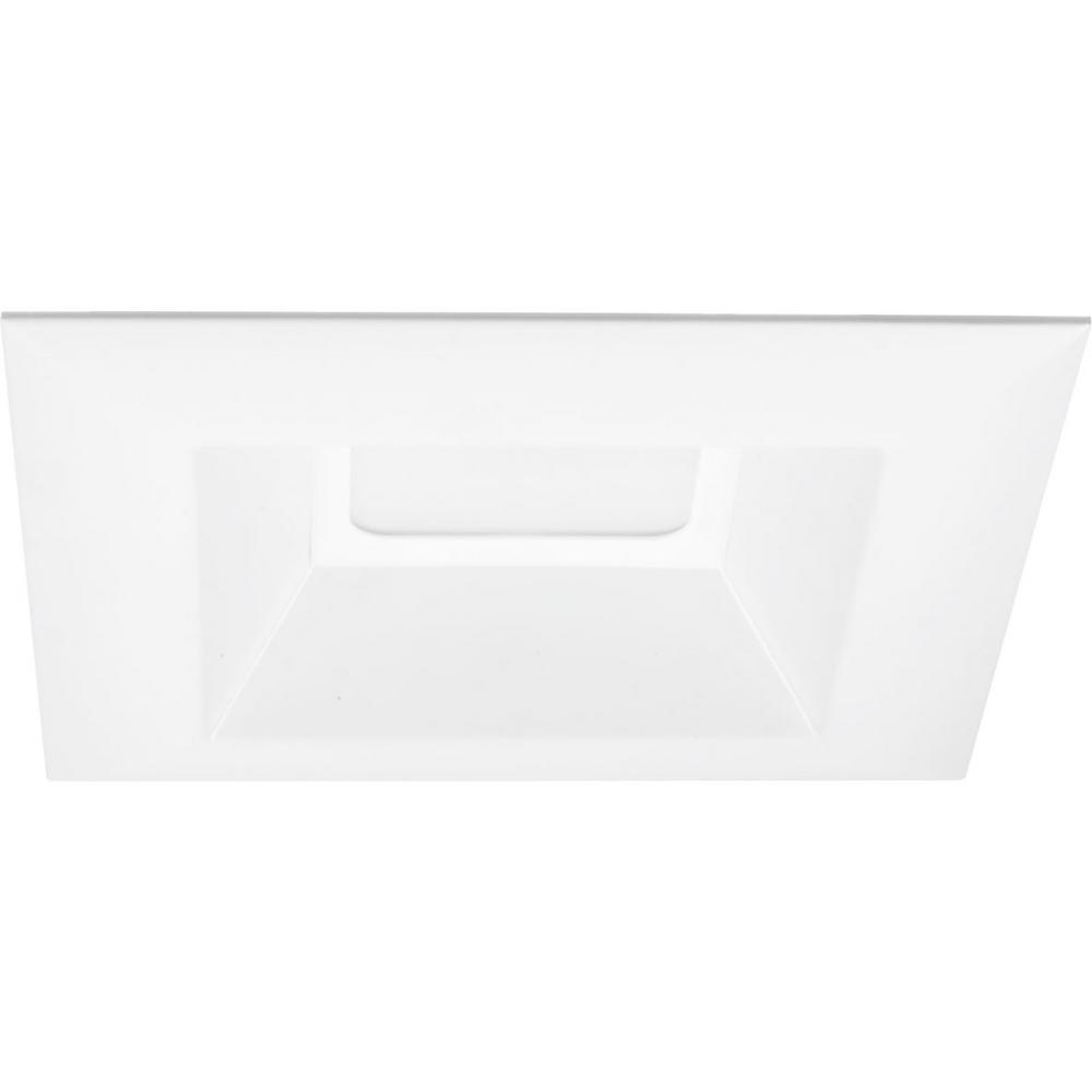 Retrofit Square Collection 6 in. White Integrated LED Recessed Trim
