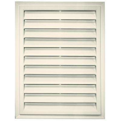 18 in. x 24 in. Rectangle Gable Vent in Linen