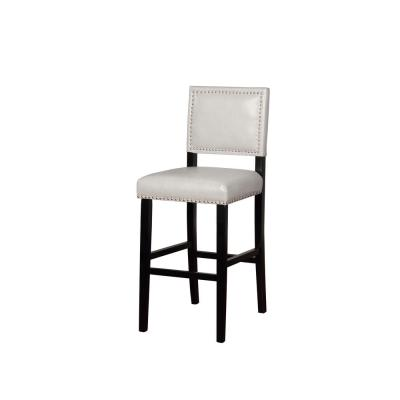 Brannon 30 in. Dove Gray Upholstered Bar Stool