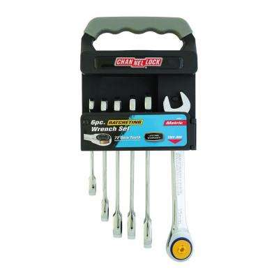 Metric Ratcheting Wrench Set (6-Piece)