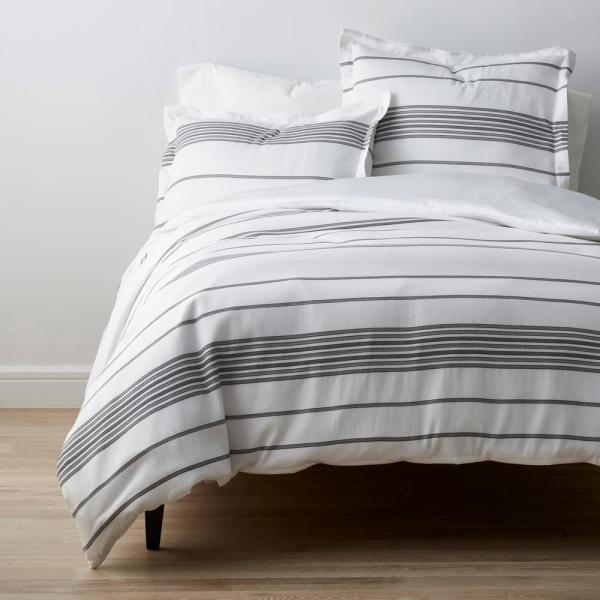 Parallel Stripes Multicolored Sateen Queen Duvet Cover