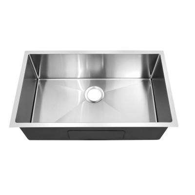 Hardy Undermount Stainless Steel 19 in. Single Bowl Kitchen Sink