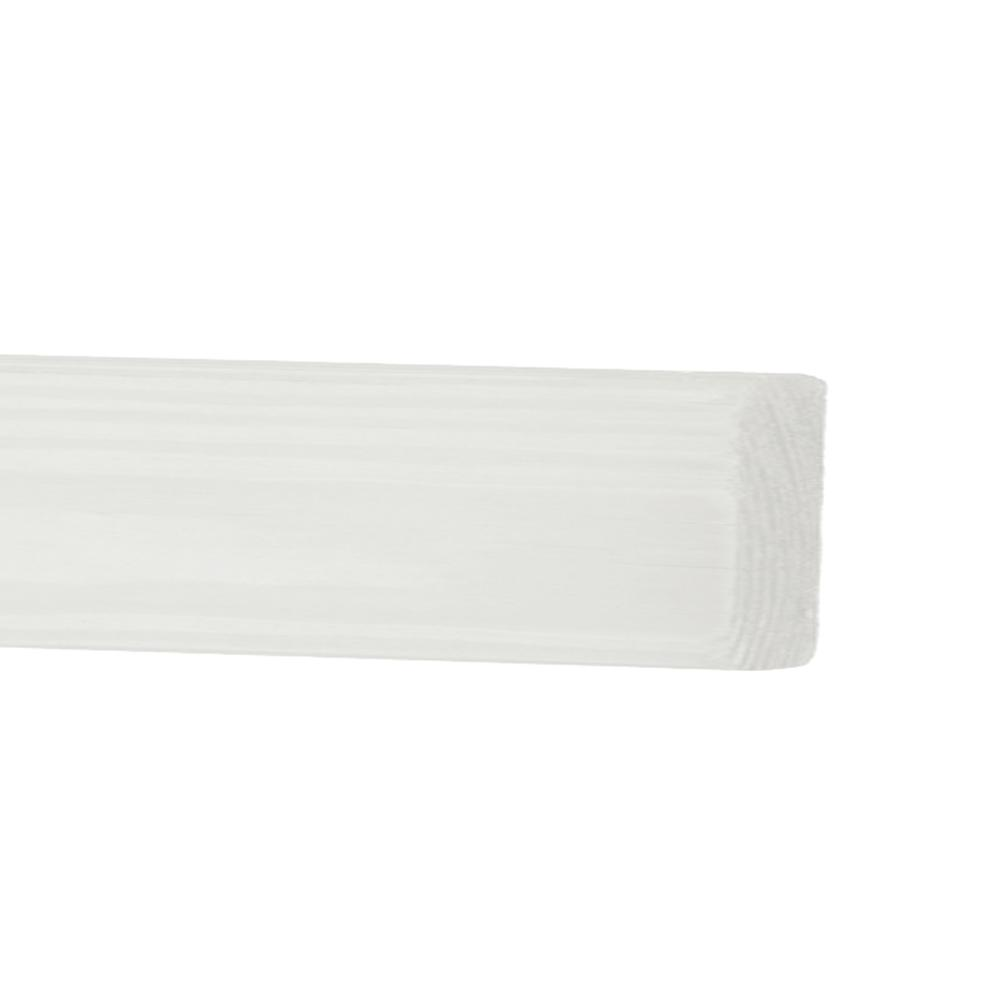 Outdoor Essentials 2 in. x 3 in. x 8 ft. White Cedar Primed Fence Panel Backer Rail (2-Pack)