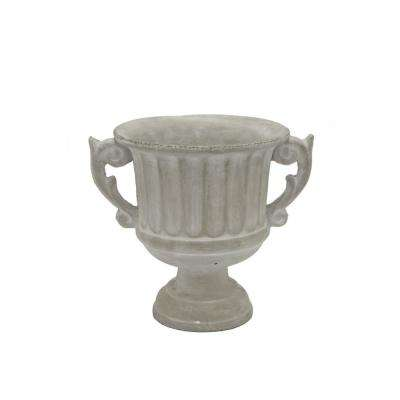 8.5 in. Gray Footed Urn