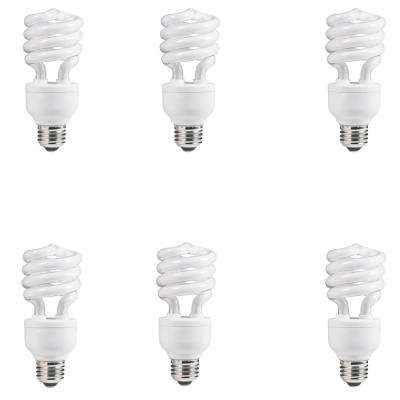 100-Watt Equivalent Spiral CFL Light Bulb Daylight (5000K) (6-Pack)