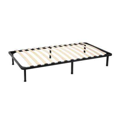 Cannet Twin Metal Platform Bed Frame with Wooden Slats