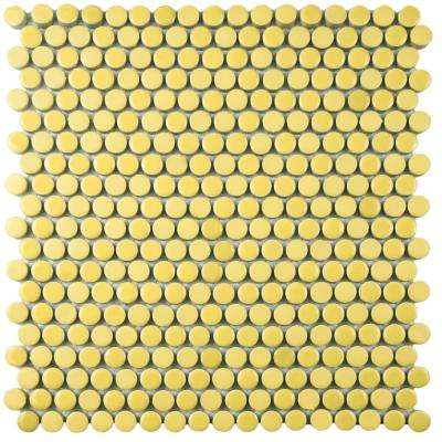 Comet Penny Round Yellow 11 1/4 In. X 11 3/