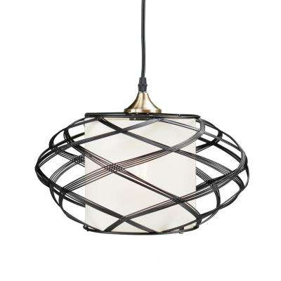 Black - Rustic - Cage - Pendant Lights - Lighting - The Home Depot