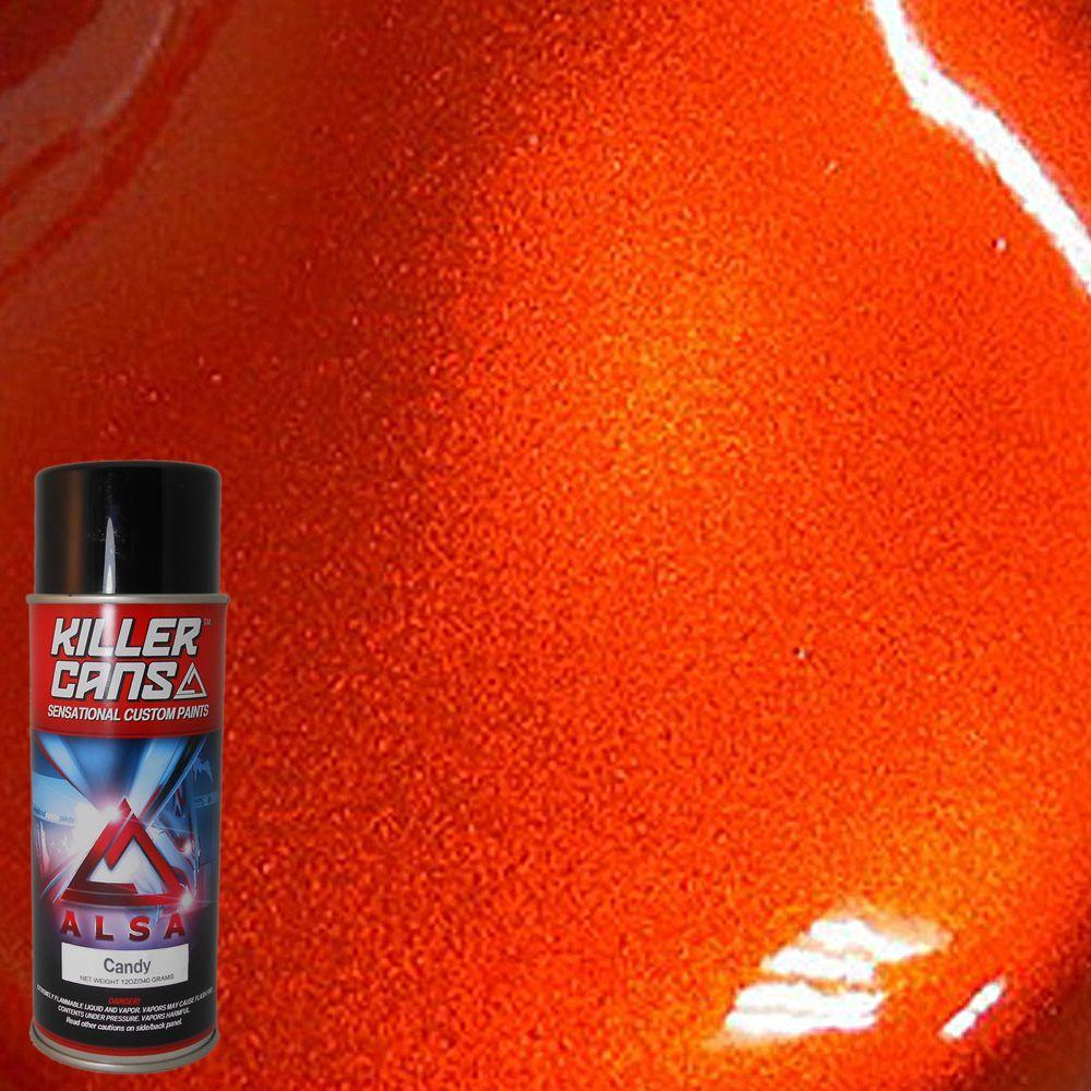 Alsa Refinish 12 Oz Candy Mandarin Orange Killer Cans
