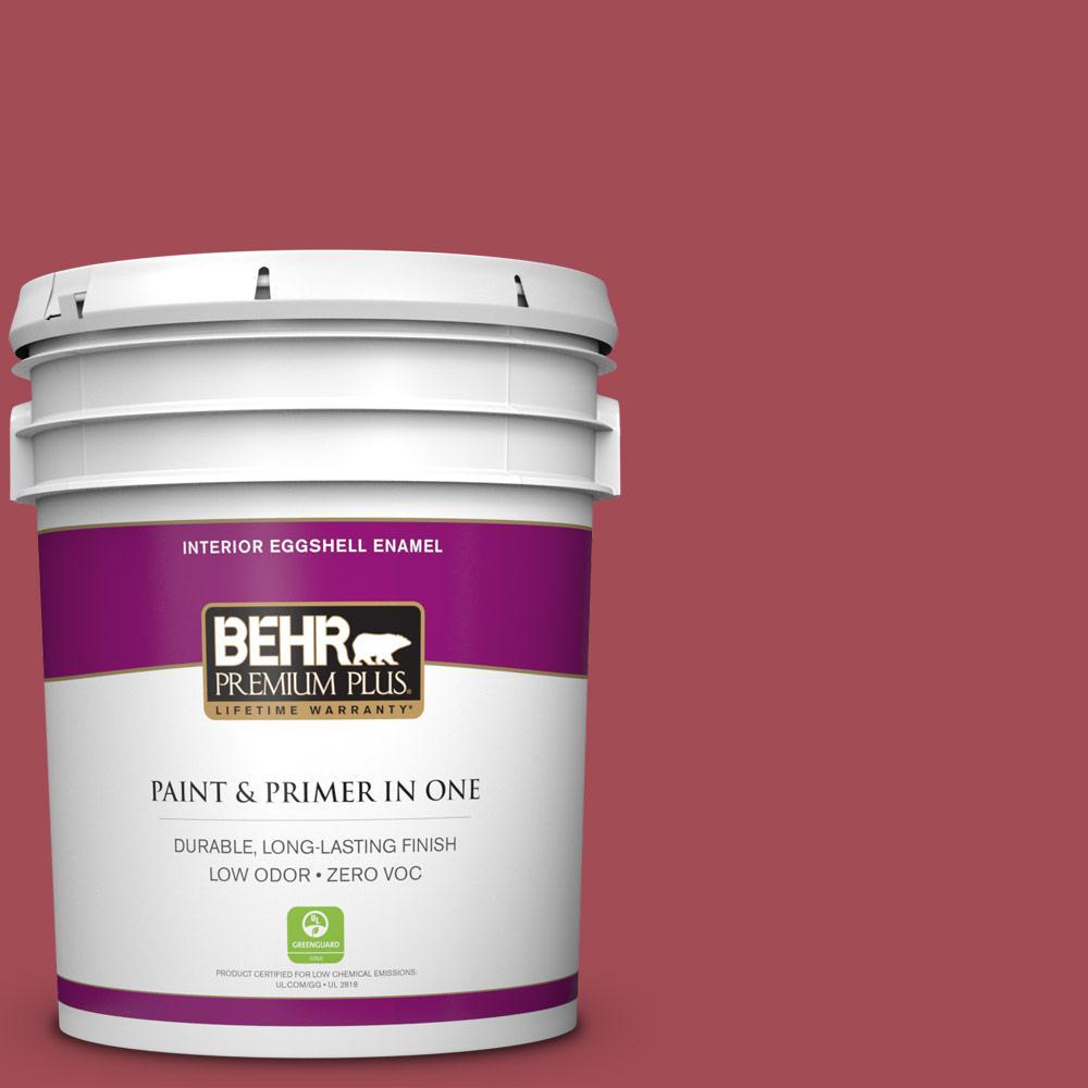 5 gal. #HDC-FL15-02 Cranberry Jam Zero VOC Eggshell Enamel Interior Paint