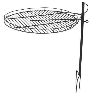 24 in. Dia Steel Cooking Grate with Adjustable Height