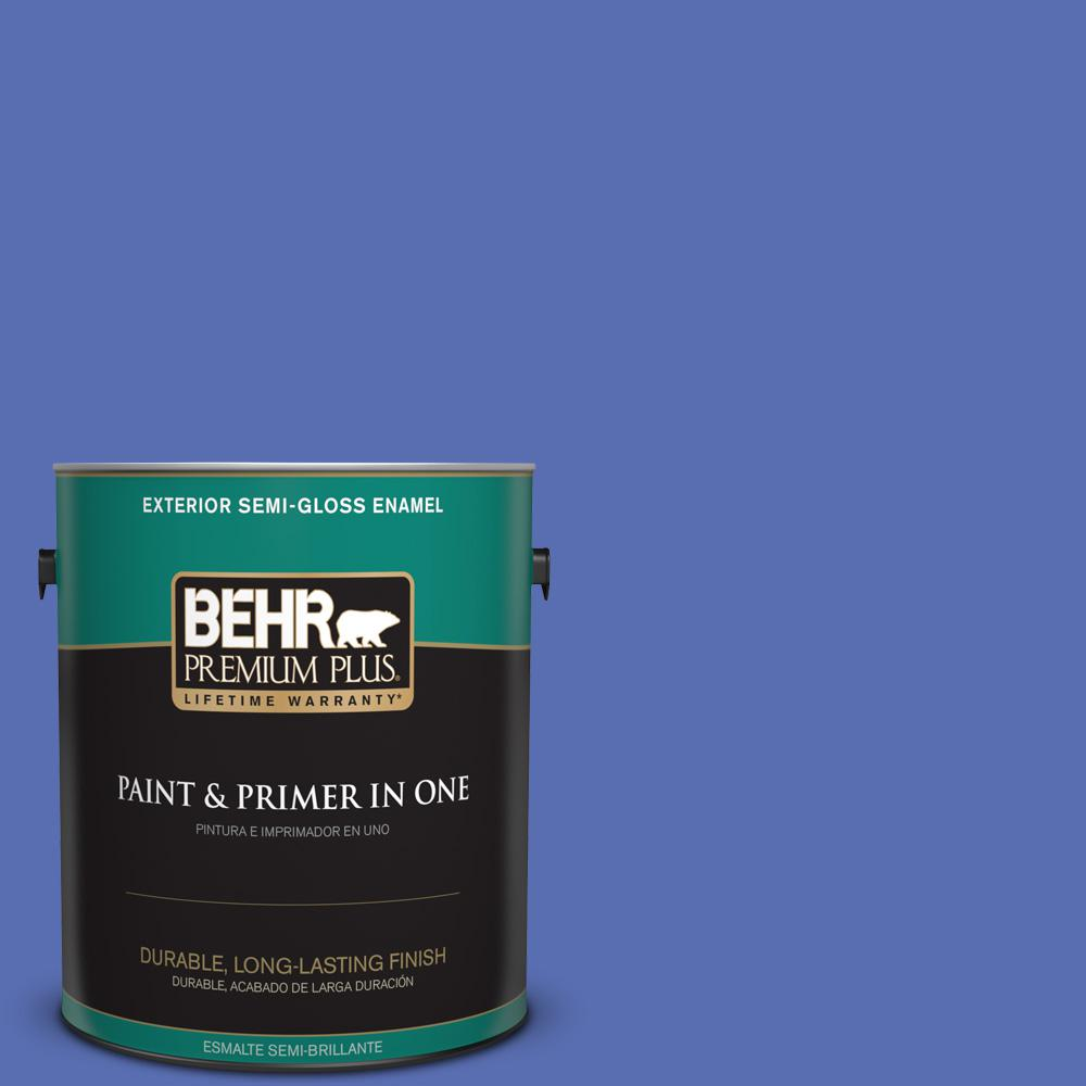 1 gal. #PPU15-05 New Age Blue Semi-Gloss Enamel Exterior Paint