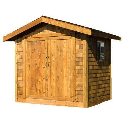 Premium Cedar Shed 8 ft. x 10 ft. Wood Premium Shingle Siding Shed Kit