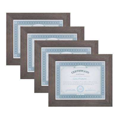 Museum 8.5 in. x 11 Gray Picture Frame (Set of 4)