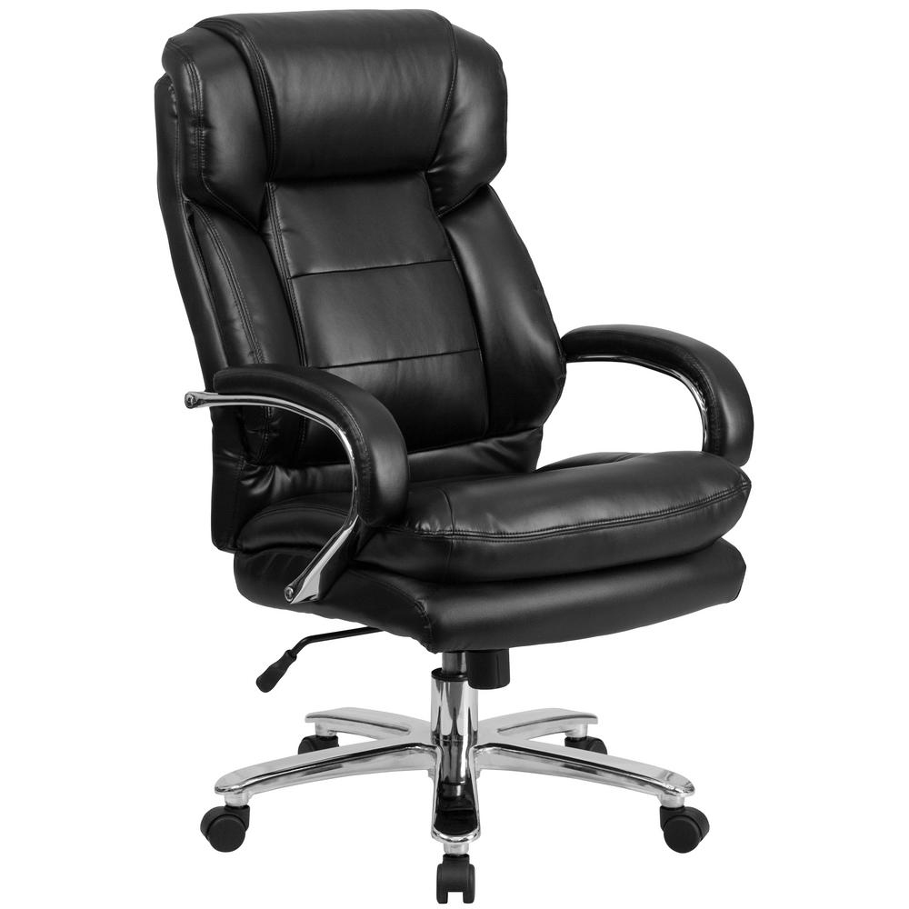 Black Leather Office/Desk Chair