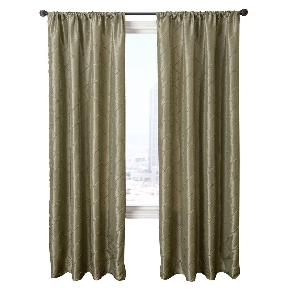 Home Decorators Collection Sheer Sage Colchester Rod Pocket Curtain - 54 in.W x 96 in. L
