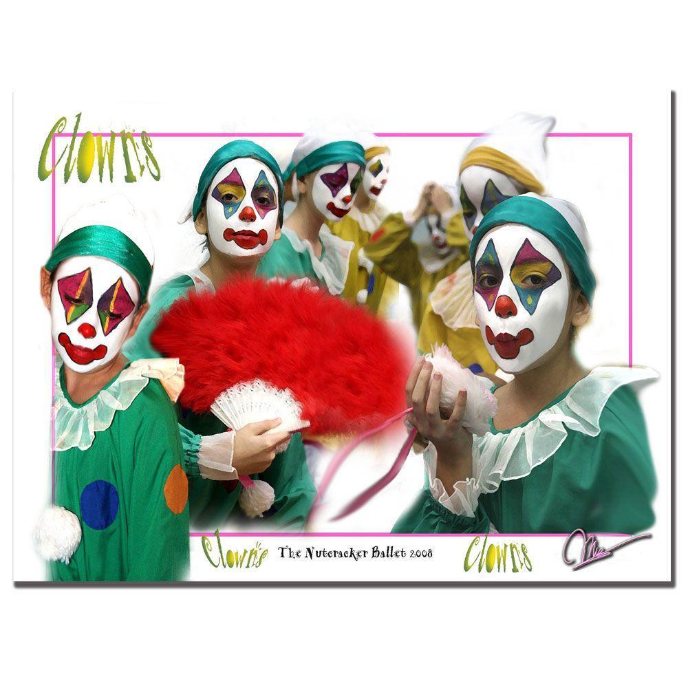 Trademark Fine Art 18 in. x 24 in. Clowns Canvas Art