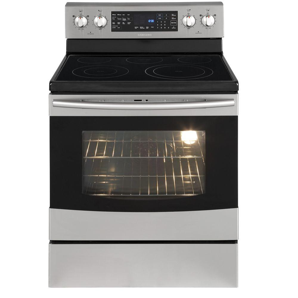 Samsung 5.9 cu. ft. Flex Duo Electric Range with Self-Cleaning Dual Convection Oven in Stainless Steel