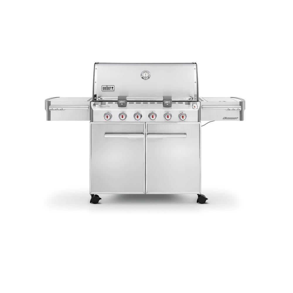 Weber Summit S-620 6-Burner Propane Gas Grill in Stainless Steel