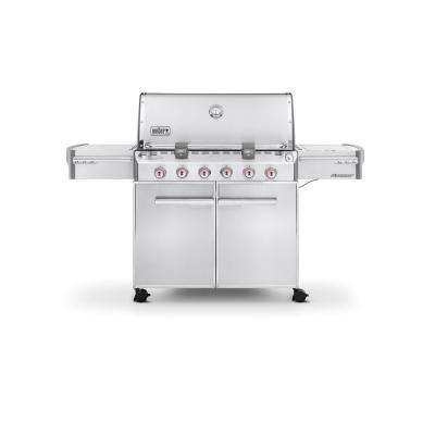 Summit S-620 6-Burner Propane Gas Grill in Stainless Steel
