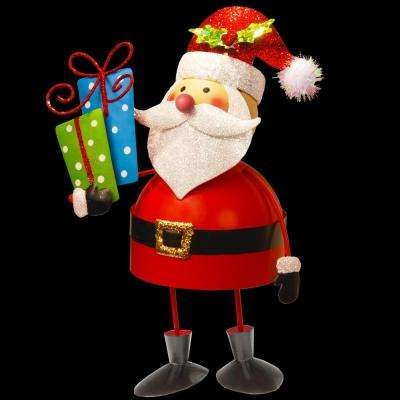 10 in. Metal Bobble Santa