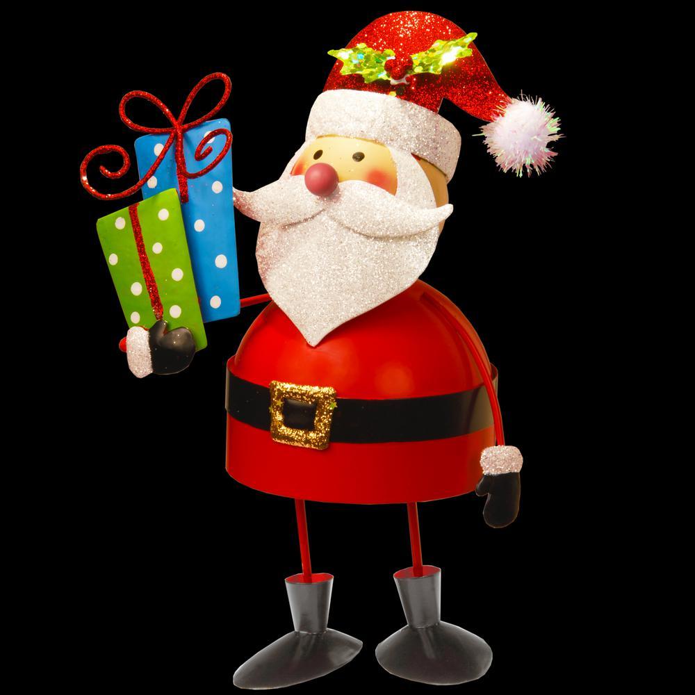 10 in. Metal Bobble Santa