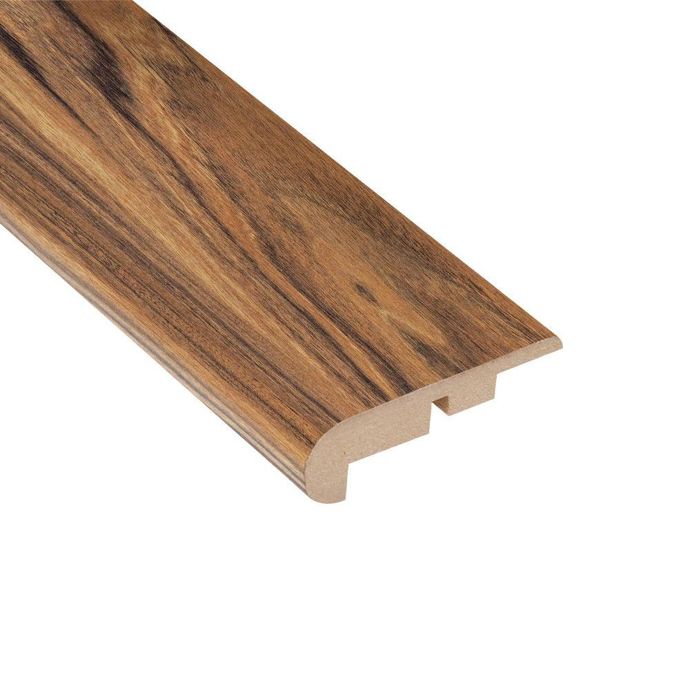 Home Legend Hawaiian Tigerwood 7/16 in. Thick x 2-1/4 in. Wide x 94 in. Length Laminate Stairnose Molding
