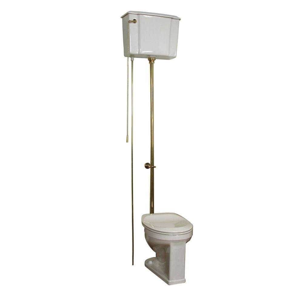 Victoria 2-piece 1.6 GPF Round High Tank Water Closet Toilet in