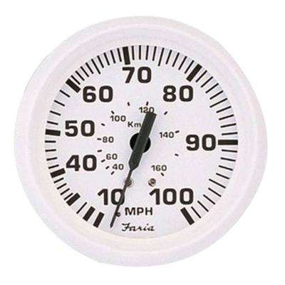 80 MPH Speedometer in Dress White
