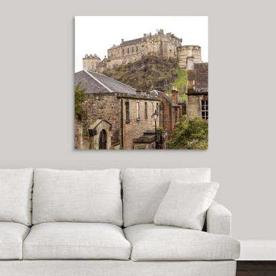 """Edinburgh Castle, Scotland - Square"" by Circle Capture Canvas Wall Art"