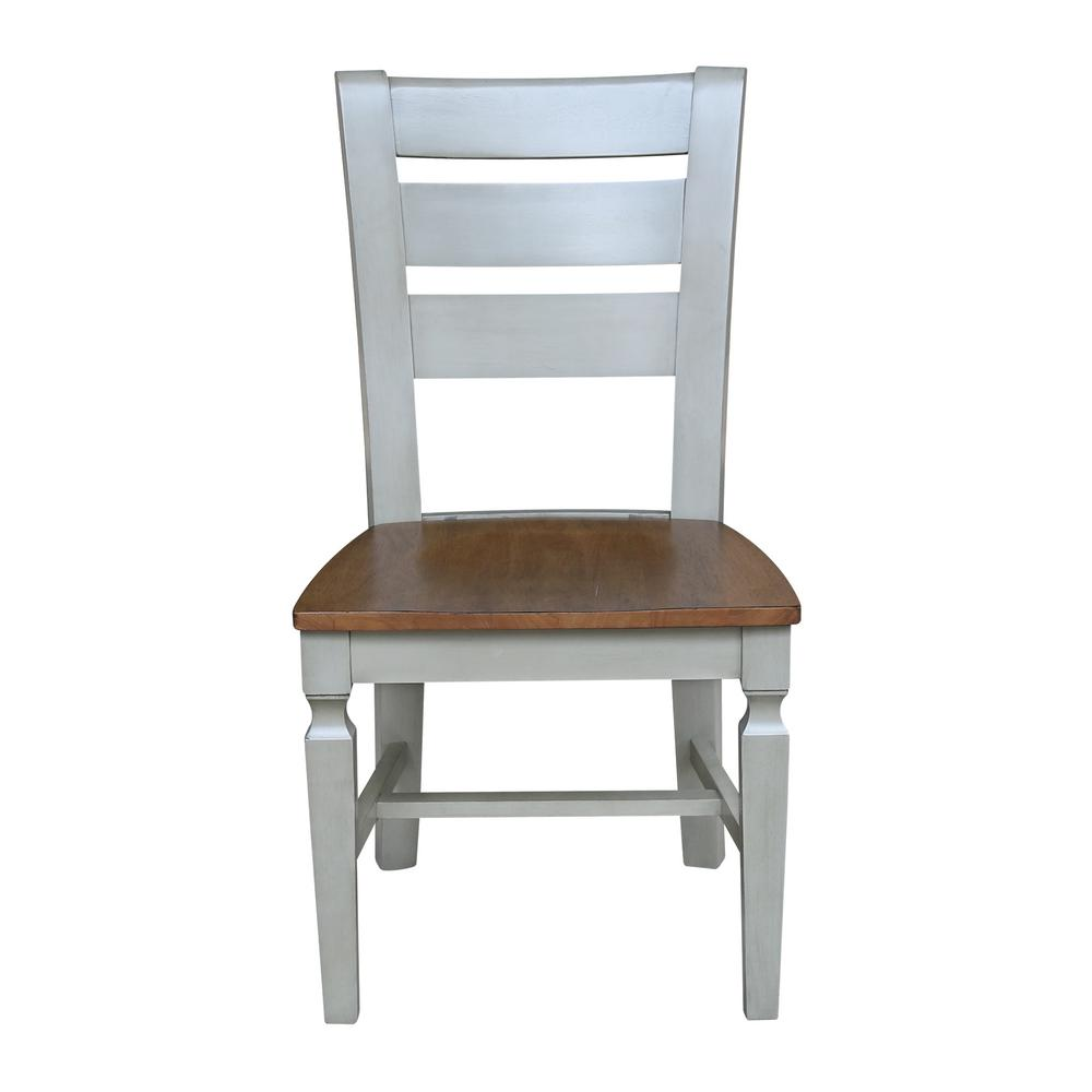 Hickory / Stone Vista Ladderback Dining Chair (Set of 2)
