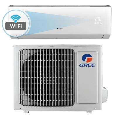 Livo 12,000 BTU 1 Ton Wi-Fi Programmable Ductless Mini Split Air Conditioner with Inverter, Heat, Remote - 115V/60Hz