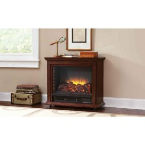 Pleasant Hearth Sheridan 31 inch Mobile Electric Fireplace in Cherry by Pleasant Hearth