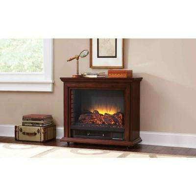 Sheridan 31 in. Mobile Electric Fireplace in Cherry