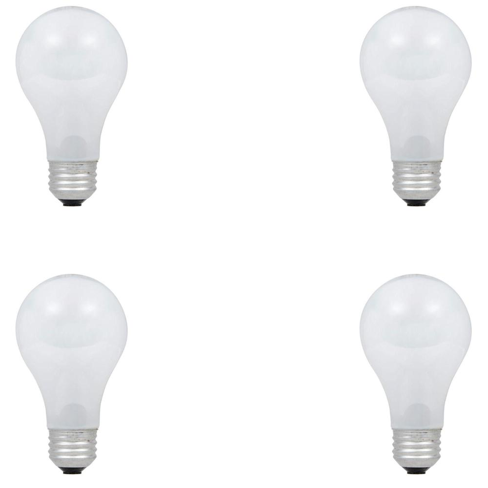 40-Watt Equivalent A19 Dimmable Eco-Incandescent Light Bulb Soft White (4-Pack)