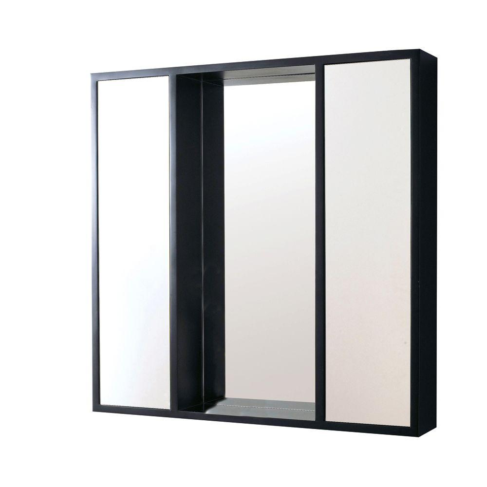 DECOLAV 30 in. W Surface Mount Mirrored Medicine Cabinet in Espresso-DISCONTINUED