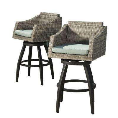 Cannes All Weather Wicker Motion Patio Bar Stool